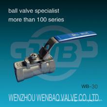 Valve bille à bille réduite à 1 PC 1000 psi avec poignée de verrouillage