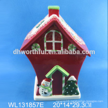 High quality large ceramic Christmas house storage container