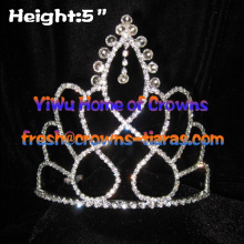 5in diamant clair Pageant couronnes