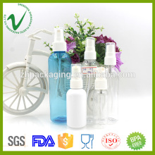 Tamanho personalizado grosso redondo garrafa líquida de plástico vazio PET para perfume