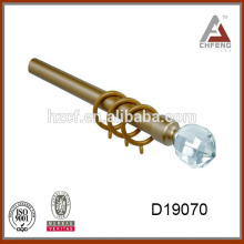 D19070 Truck Curtain Rails With Crystal Finials/luxury curtain rods/luxury curtain finial painted 19mm