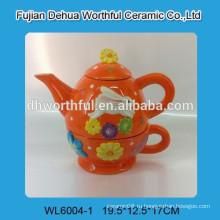 Популярный керамический пасхальный чайник в полной руке