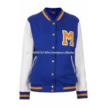 Blue color varsity jacket for men and women
