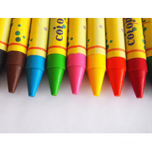 High Quality Non-Toxic Bright Color Wax Crayon China Supplier Dh-0212c