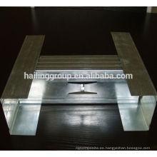 Canal C galvanizado metal anticaustic para techo y pared seca
