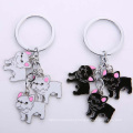 Custom Cute Pet Dog Logo Design Charm Promotional Metal Keychains