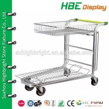 two tier metal greenhouse cargo cart