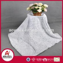 Großverkauf der fabrik gefälschte pelzdecke / Made in China 100% polyester kunstpelz stoff