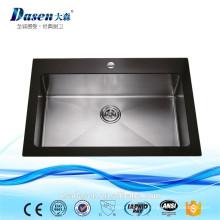 Dasen раковина стеклянная доска из нержавеющей стали кухонная раковина Topmounted раковина со сливом пол(ДС-G901)