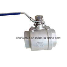 2PC Inside Thread Full Bore Floating Ball Valve with Lock
