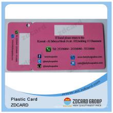 Laminated Cmyk Printing Custom Shape PVC Card