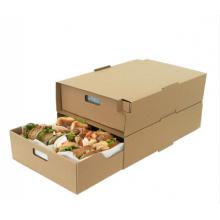 Коробка для горячей продажи для кейтеринга, печать логотипа, гофрированная бумага, упаковка для пищевых продуктов