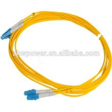 Nível de Telecomunicação Singlemode lc patch cord cabo, simplex duplex lc patch cord com preço por metro