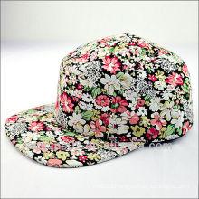 flower 5 panel caps hats