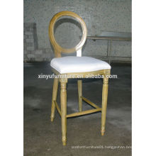 french antique style louis bar chair in natural color XYN259