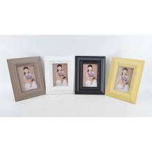 Nuevo marco de fotos MDF para envolver papel en color de grano de madera