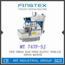 Máquina de costura de Overlock elástico de alta velocidade de quatro Thread (747F-SJ)