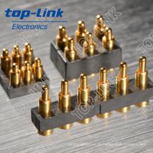 Conector de antena de teléfono inteligente, con Sprind cargado, Pin chapado en oro