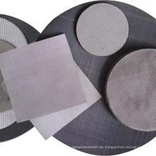 30x150 Mesh Dutch Weave Schwarz Draht Tuch Filterscheibe für Kunststoff Extrudieren Maschine