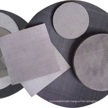 30x150 Mesh Dutch Weave Black Wire Cloth Filter Disc Used For Plastic Extruding Machine