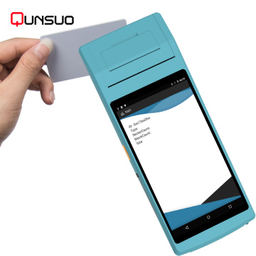 Handheld Android NFC Zahlungs-POS mit Drucker