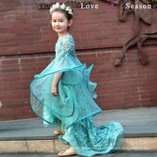 La muchacha de flor preciosa del vestido de bola XXLF219 viste los patrones libremente vestido bajo alto de la muchacha