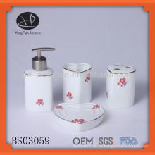 Herzförmige keramische Bad-Set