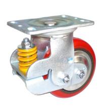 PU giratório industrial com prova de choque em castrade de ferro fundido