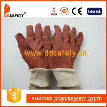 PVC Garden Gloves with White Knit Wrist Dgp110