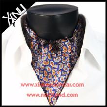 Venta al por mayor de seda impresa Ascot Tie Cravat FASHION WEARS FOR MEN