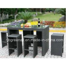 Outdoor PE Rattan Garten Moderne Terrasse Esstisch Tisch Set