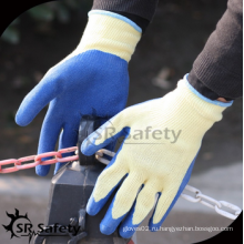 SRSAFETY дешевая цена / 10g poylester латекс с покрытием перчатка EN388 2242 / перчатки