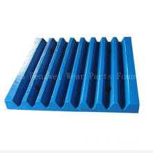 Customized Jaw Crusher Plate Teeth Plate with Size 250*750