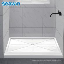 Seawin Customize Centre Drain Modern Acrylic Shower Base Tray
