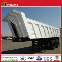 Reboque de caminhão basculante hidráulico material de aço do caminhão com 40tons