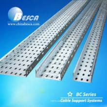 Tamanhos galvanizados ventilados galvanizados da bandeja de cabo (UL, cUL, GV, CEI, CE, ISO)