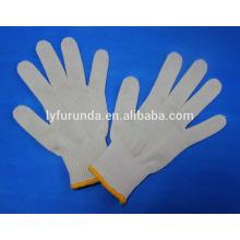 7gauge branco natural algodão corda trabalho luvas 55g