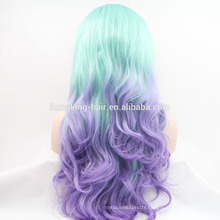 Cheap raw two tone color Ombre synthetic full lace wig
