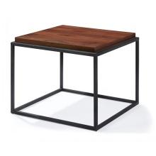 Mesas de té de café de baja altura con tapa de madera cuadrada moderna