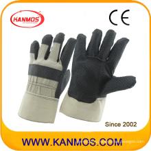 Рабочие перчатки для промышленной безопасности с черным ПВХ (41016)