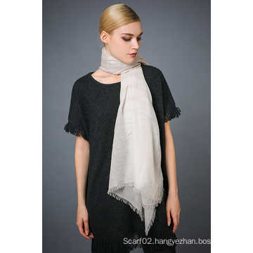 Alashan Worsted Cashmere Scarf, Soft/Luxurious Texture