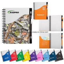 Juegos coloridos del cuaderno de la onda para los regalos promocionales