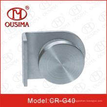 Clip de vidro de aço inoxidável com botão usado no vidro de fixação (CR-G38)