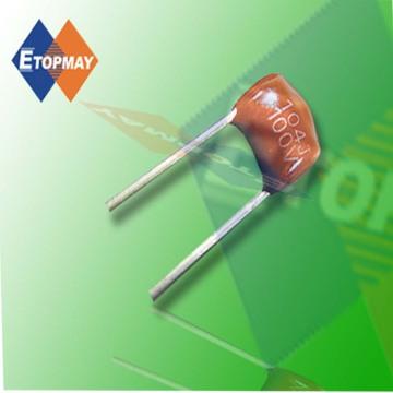 Condensador de película de poliéster metalizado de Topmay 102k630V en miniatura