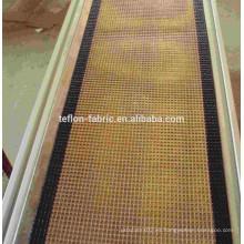 China top 3 fabricante PTFE revestimiento de fibra de vidrio malla Microondas secador de cinturón