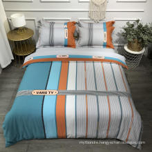 Luxury Cheap Price Bed Linen Cotton Printed Soft for King Bed Bedsheet