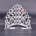 Big Beauty Pageants Rhinestone Tiaras Grande Alto Cristal AB Coroas