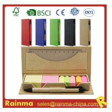 Color Stickery Memo Pad with Pen and Ruler