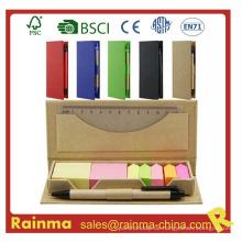Farbe Stickery Memo Pad mit Stift und Lineal