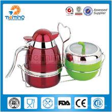2014 novo produto Promoção de alta qualidade em aço inoxidável jarro de leite com açucareiro